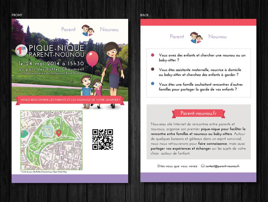 #19 for Create a flyer to advertise picnic related to website launch (in French) by Mimi214