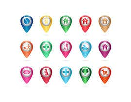 #35 para Redesign 15 Map Markers for a Locator Page por VitalinaLitvin