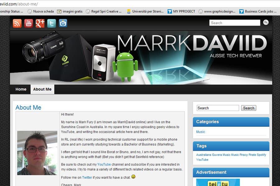 Konkurrenceindlæg #                                        27                                      for                                         Banner Design for MarrkDaviid.com