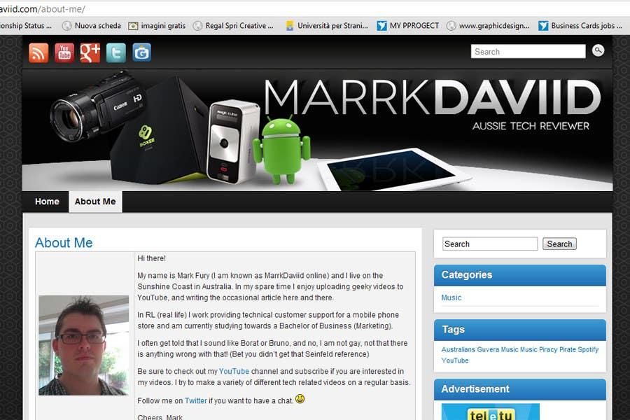 Bài tham dự cuộc thi #                                        26                                      cho                                         Banner Design for MarrkDaviid.com