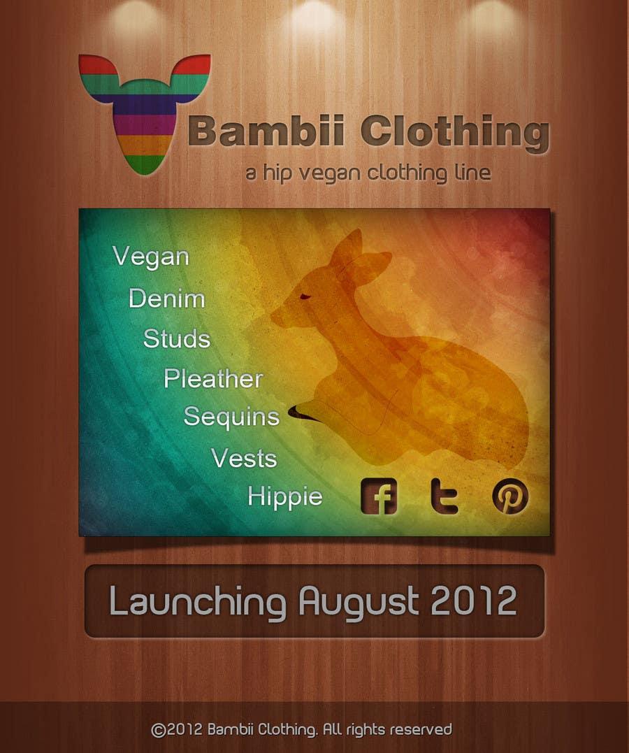 Konkurrenceindlæg #                                        2                                      for                                         Graphic Design for bambii clothing.ca