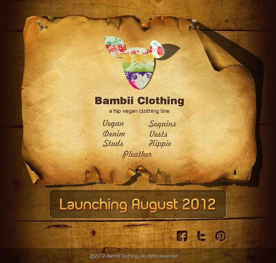 #19 for Graphic Design for bambii clothing.ca by dipcore