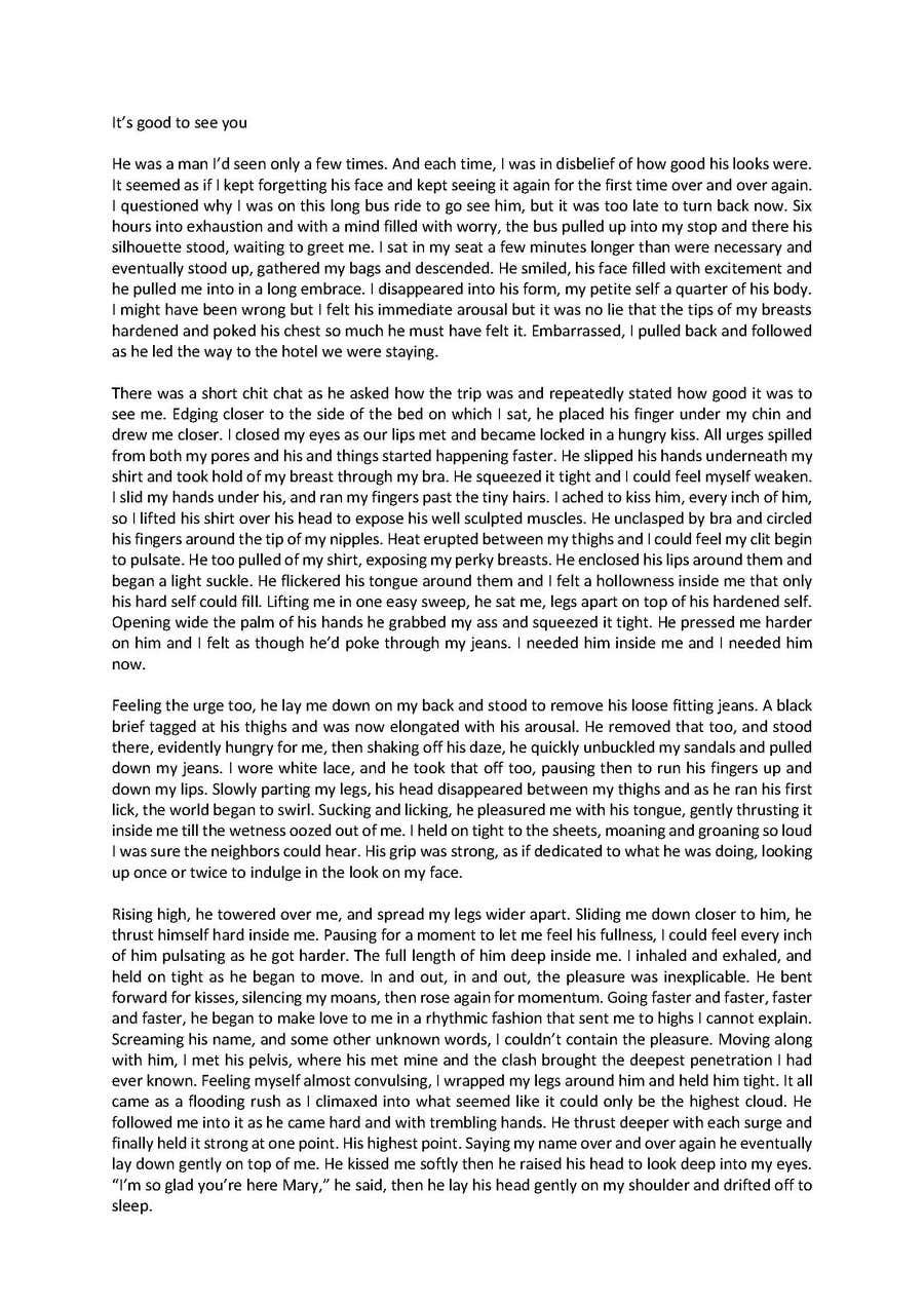 Erotic reading story writing