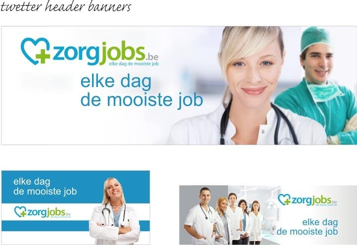 #9 for Ontwerp een Banner for facebook, twitter, linkedin header for a health care jobboard by nicoscr
