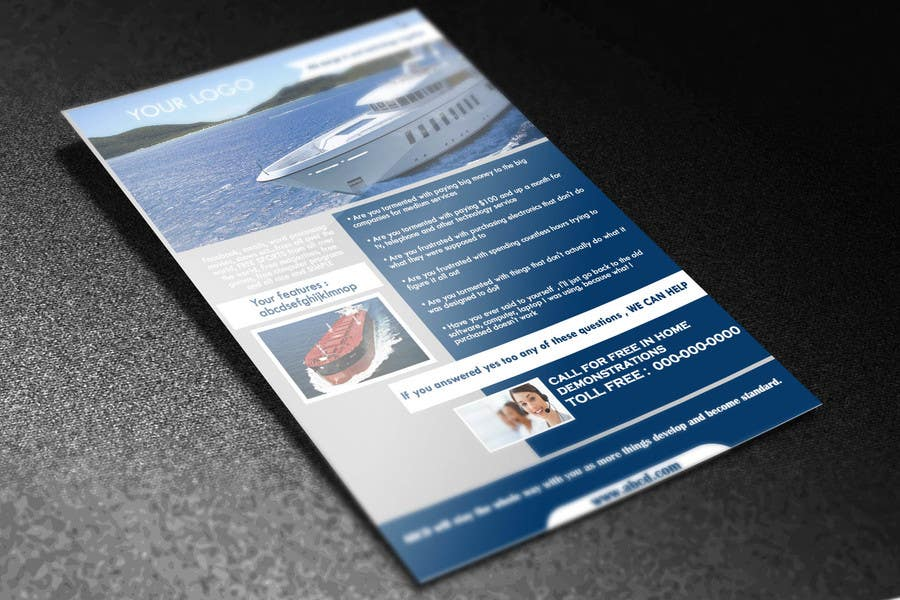 entry 1 by niyajahmad for design a half page flyer templates for