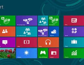 #26 para Set of 3 Metro Windows 8 style graphic tiles por mfbdeip