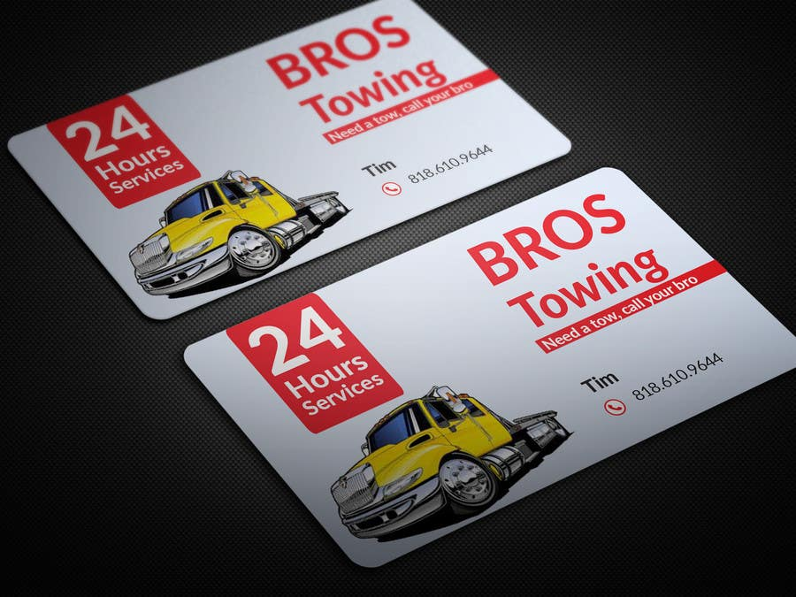 Contest Entry 9 For Tow Truck Business Cards