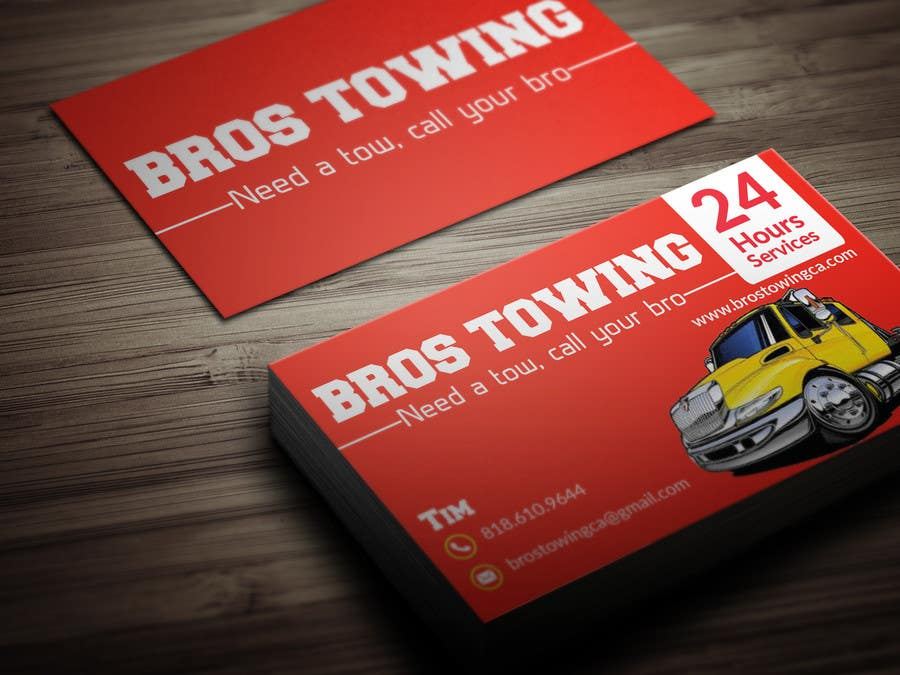 Entry #51 by BikashBapon for Tow truck business cards | Freelancer