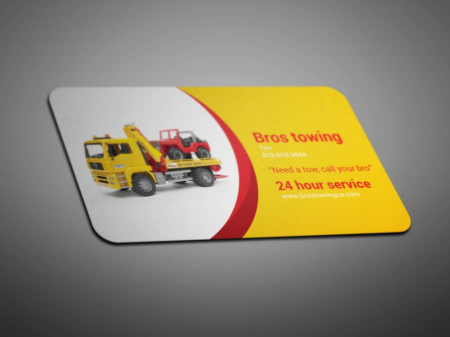 Entry 15 by smartghart for tow truck business cards freelancer contest entry 15 for tow truck business cards colourmoves