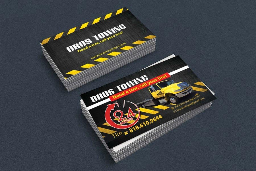 Entry 54 by leijene for tow truck business cards freelancer contest entry 54 for tow truck business cards colourmoves