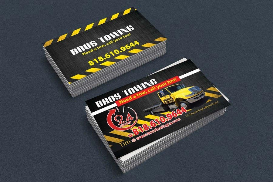 Entry #71 by leijene for Tow truck business cards | Freelancer