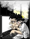 Bài tham dự #12 về Illustration cho cuộc thi Workaholic illustration or cartoon. Design single-panel illustration or cartoon symbolizing a Workaholic (multiple winners possible).