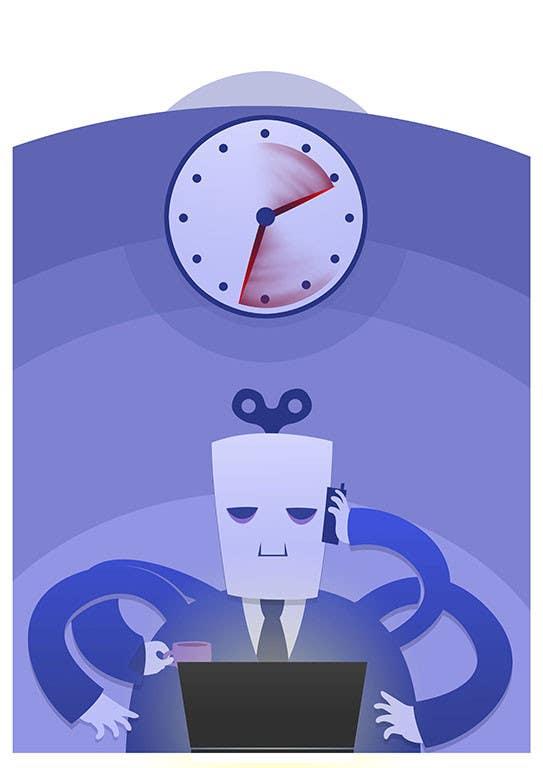 Bài tham dự cuộc thi #                                        22                                      cho                                         Workaholic illustration or cartoon. Design single-panel illustration or cartoon symbolizing a Workaholic (multiple winners possible).