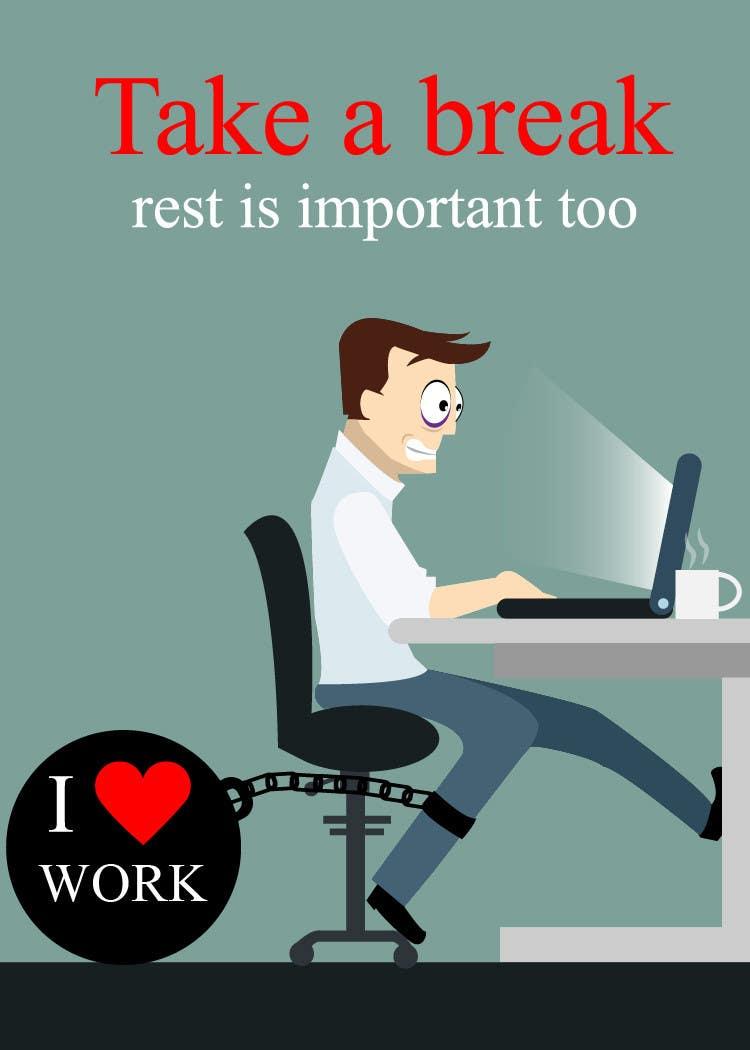 Bài tham dự cuộc thi #                                        19                                      cho                                         Workaholic illustration or cartoon. Design single-panel illustration or cartoon symbolizing a Workaholic (multiple winners possible).