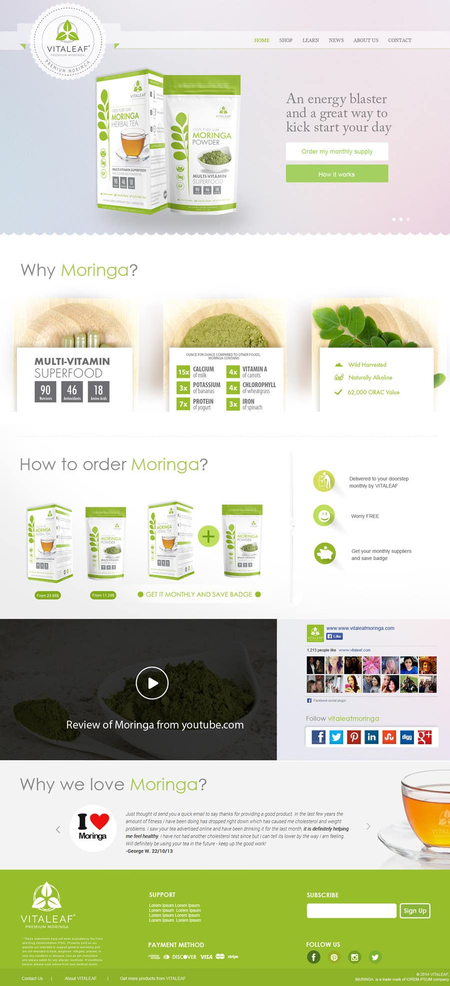 #10 for Customize a Shopify Template for Health Food Supplement Website Mockup by TheWebChef