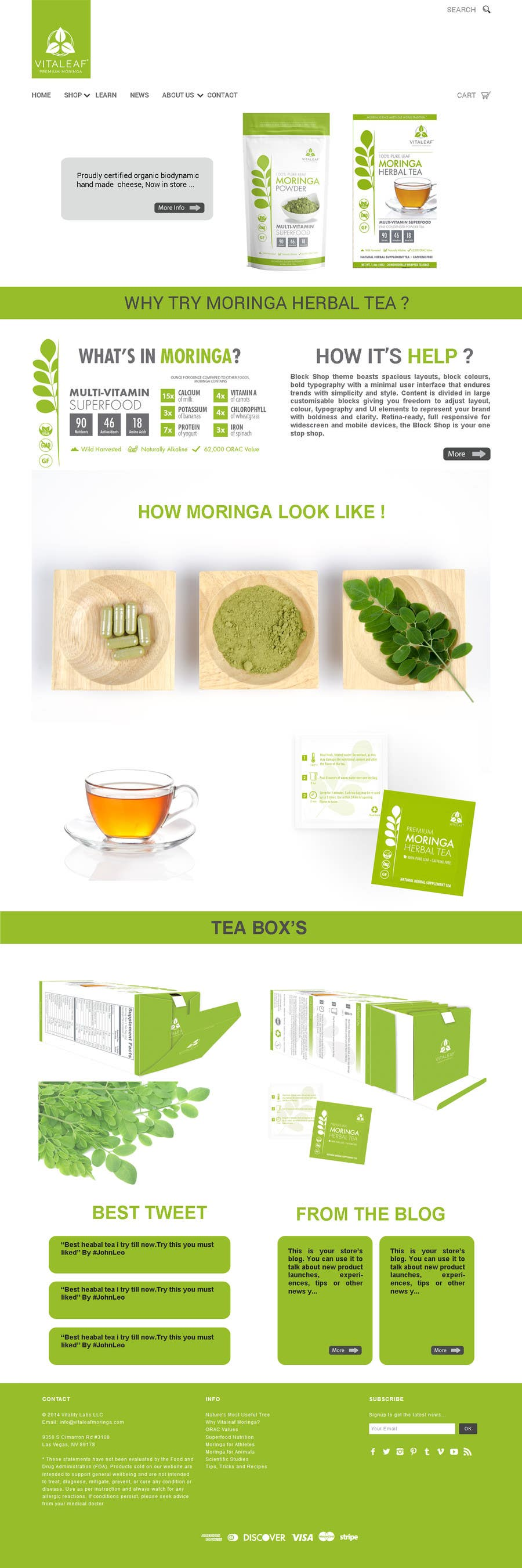 #6 for Customize a Shopify Template for Health Food Supplement Website Mockup by mishok123