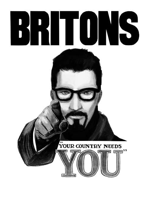 Proposition n°1 du concours Change the classic Britain Needs You poster to be Gordon Freeman