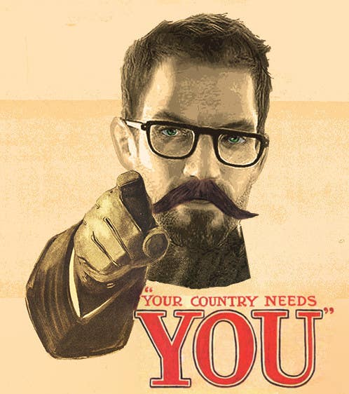 Proposition n°4 du concours Change the classic Britain Needs You poster to be Gordon Freeman