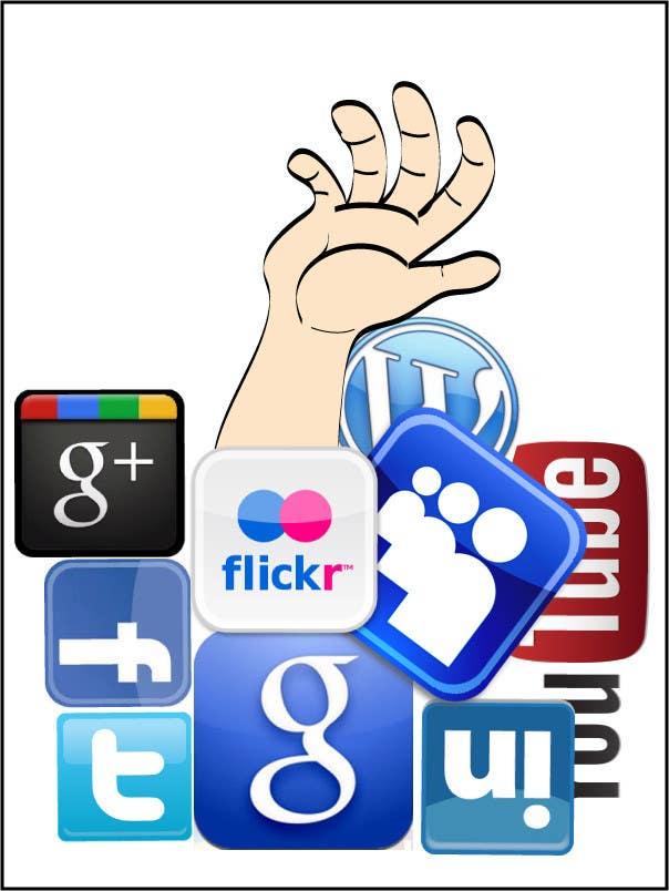 Inscrição nº                                         11                                      do Concurso para                                         Social media addict. Design single-panel illustration or cartoon symbolizing a social media addict (multiple winners possible).