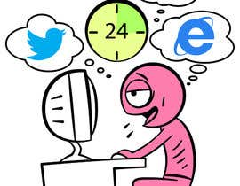 #13 para Social media addict. Design single-panel illustration or cartoon symbolizing a social media addict (multiple winners possible). por satherghoees1