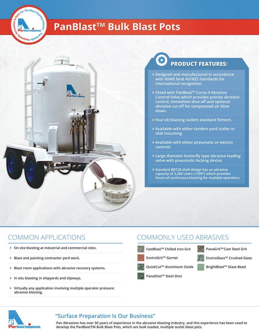 Inscrição nº 3 do Concurso para New Brochures - Graphic Design for Pan Abrasives