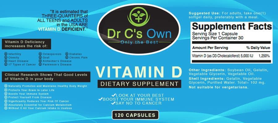 Konkurrenceindlæg #                                        17                                      for                                         Doctor C's Own Health Supplements Label Design Contest!