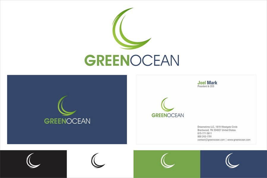 Proposition n°                                        659                                      du concours                                         Logo and Business Card Design for Green Ocean