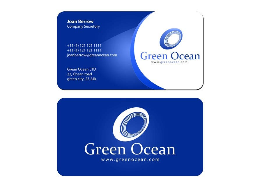 Proposition n°                                        568                                      du concours                                         Logo and Business Card Design for Green Ocean
