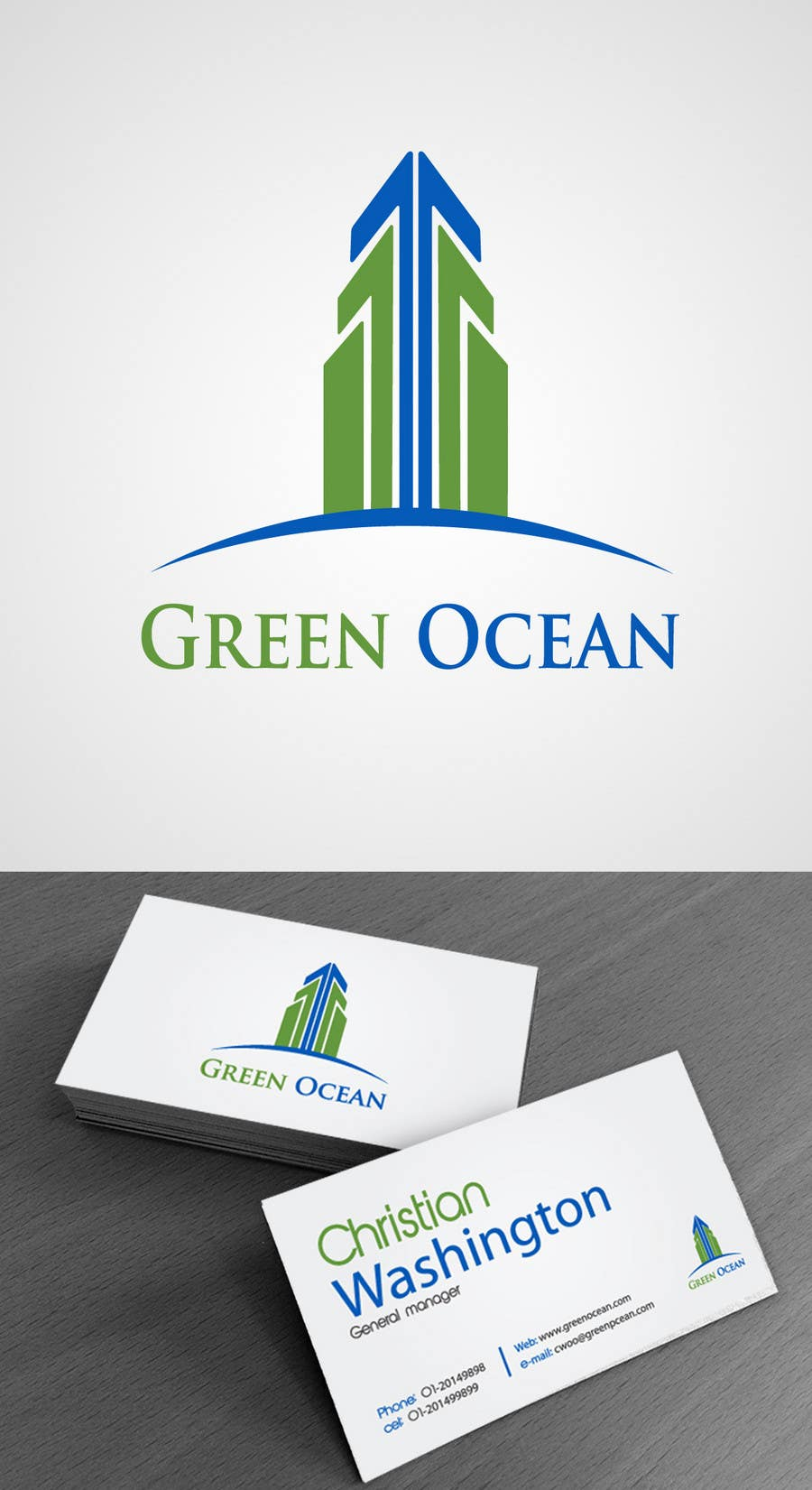 Proposition n°                                        519                                      du concours                                         Logo and Business Card Design for Green Ocean