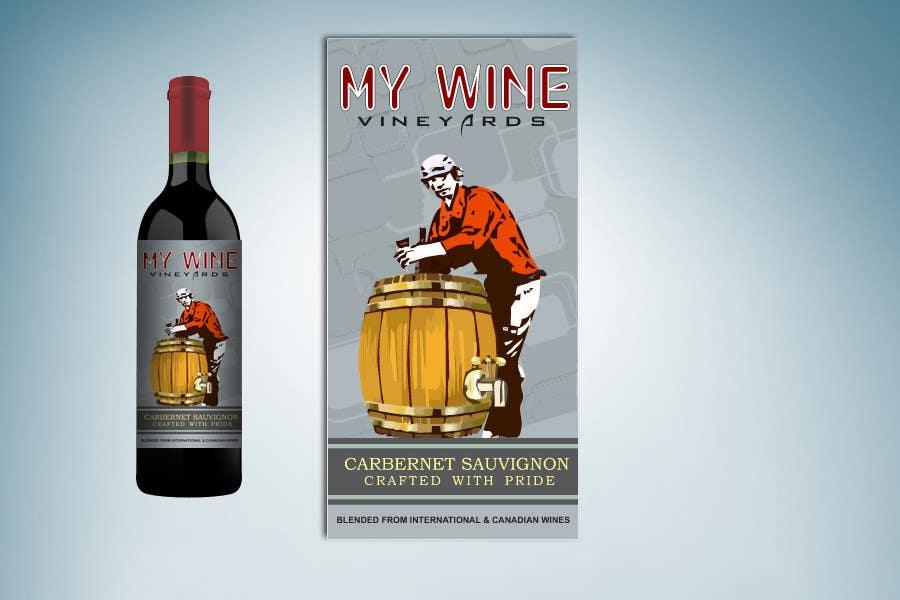 Kilpailutyö #                                        39                                      kilpailussa                                         Graphic Design for An online custom wine label company