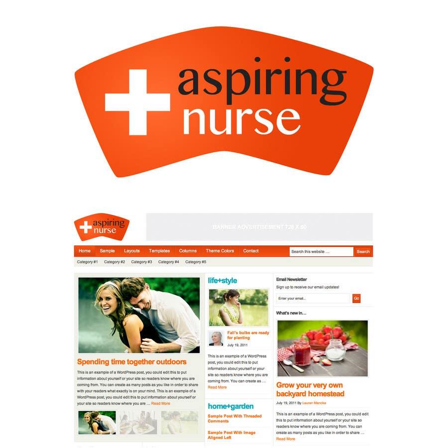 Kilpailutyö #                                        49                                      kilpailussa                                         Logo design for aspiring nurse