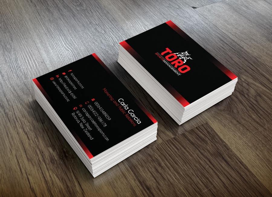 Penyertaan Peraduan #                                        20                                      untuk                                         Design a Business Cards for a Sports Company