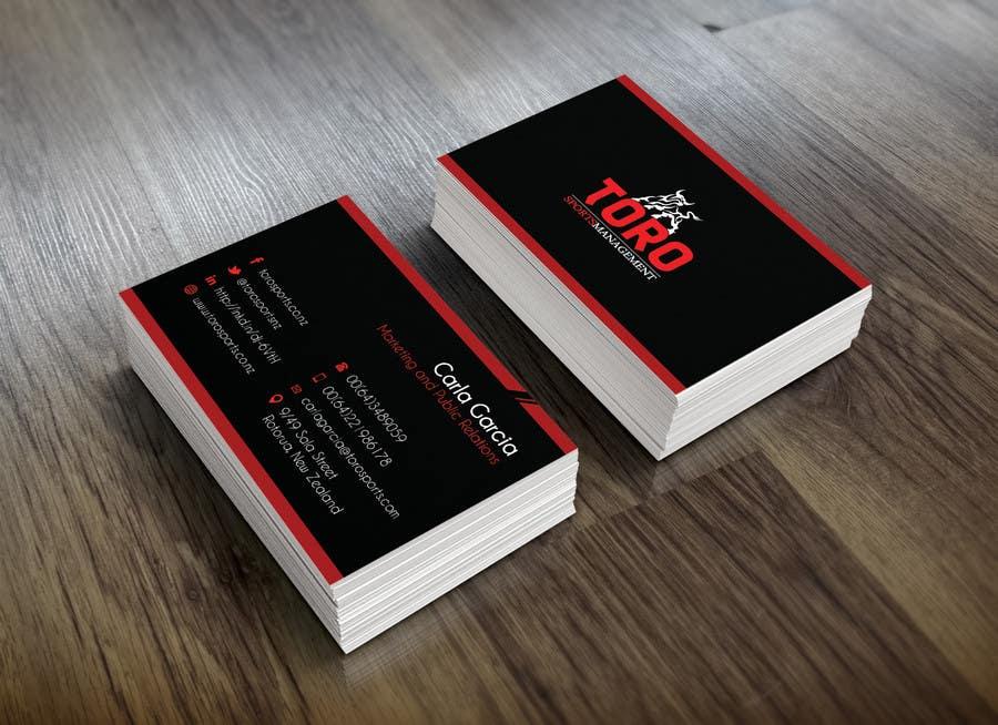 Penyertaan Peraduan #                                        34                                      untuk                                         Design a Business Cards for a Sports Company