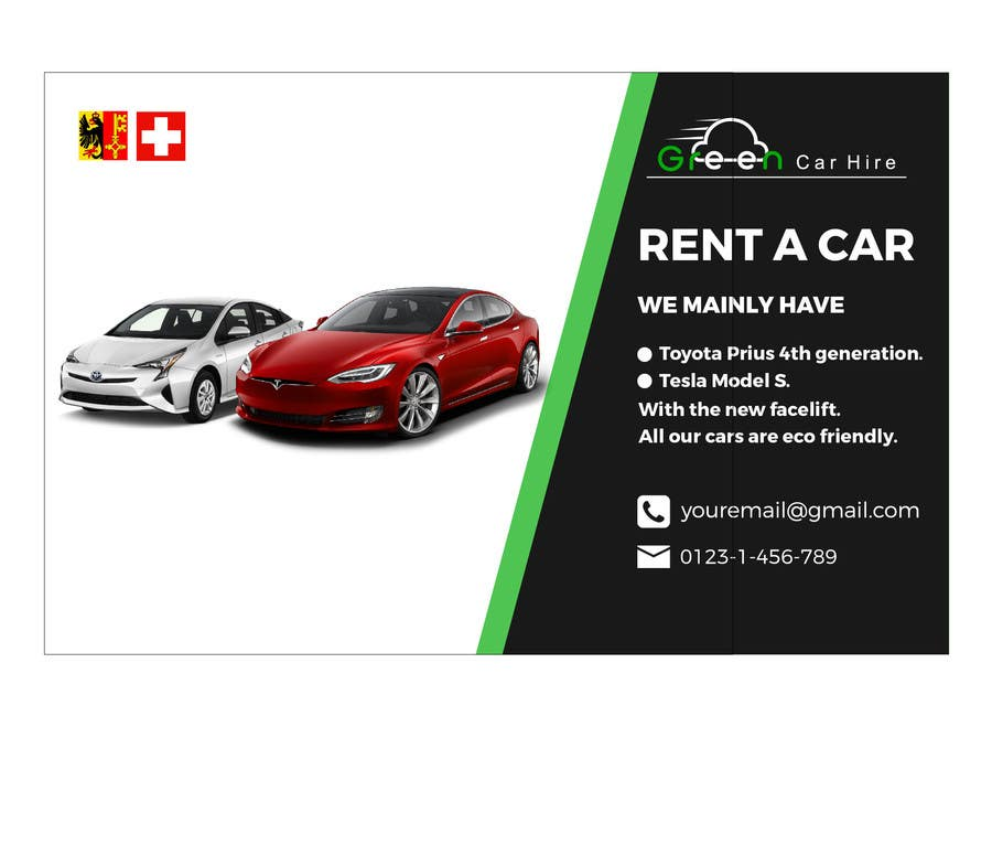 Entry 53 By Hiamirasel1 For Design A Banner For Rental Car Company In Switzerland Freelancer