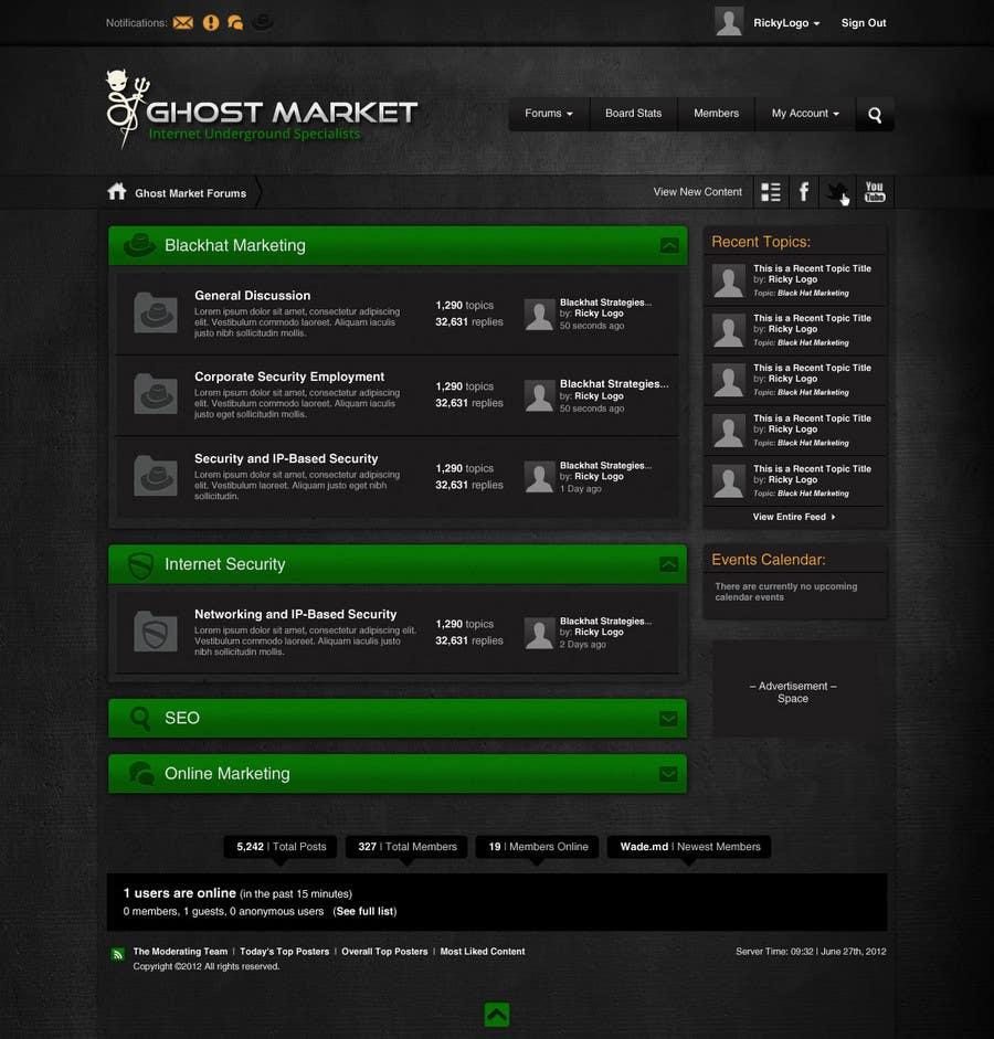 #28 for Forum Board Design for Ghostmarket by wademd