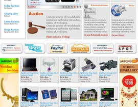 Nro 6 kilpailuun Website Design for auction/classifieds käyttäjältä PMcreatives