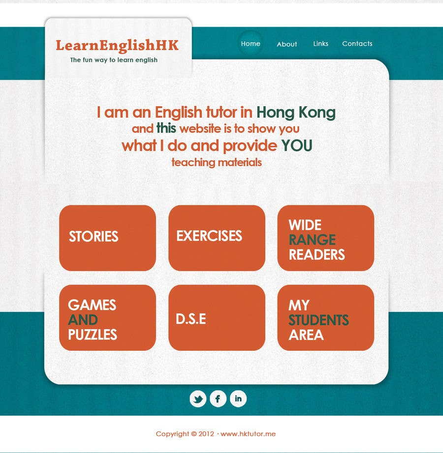 Конкурсная заявка №55 для Wordpress Theme Design for Teaching English