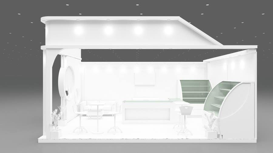 Exhibition Stand White : Entry by navdeepnain for d modeling for exhibition stand