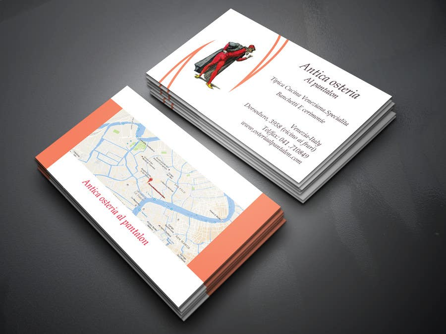 Entry #17 by foysal420 for business card with map for restaurant ...