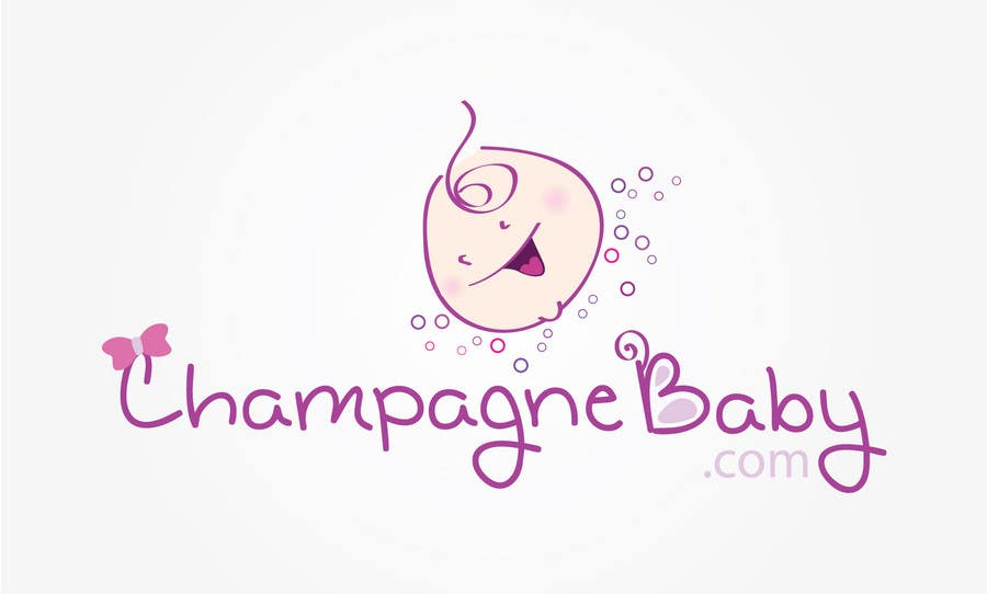 Contest Entry #62 for Logo Design for www.ChampagneBaby.com