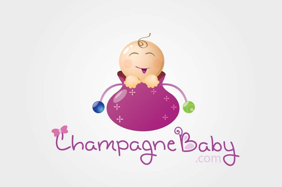 Contest Entry #75 for Logo Design for www.ChampagneBaby.com