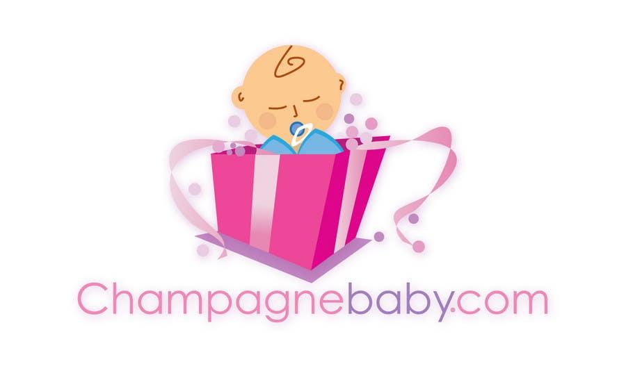 Конкурсная заявка №87 для Logo Design for www.ChampagneBaby.com