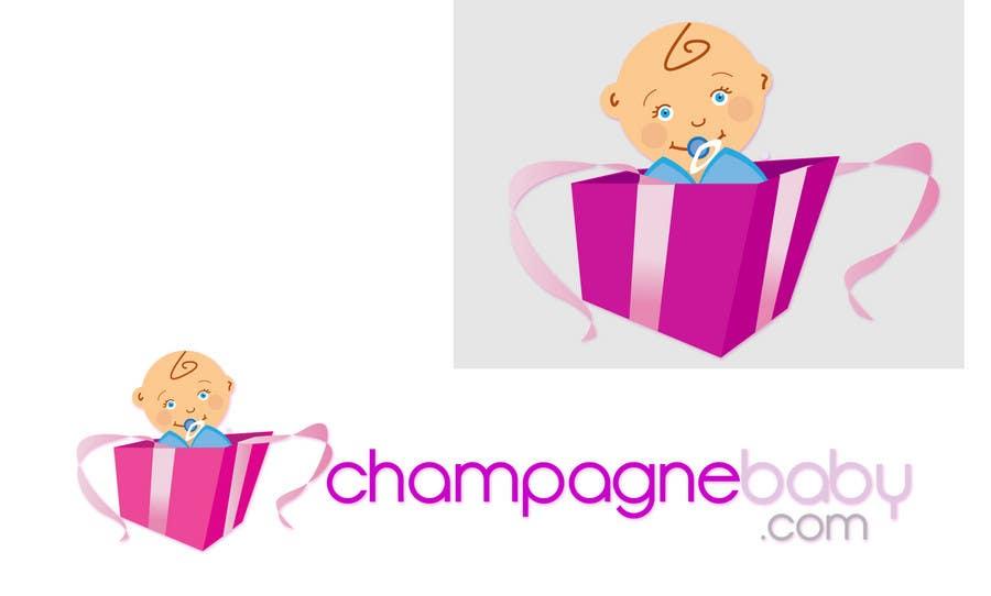 Конкурсная заявка №120 для Logo Design for www.ChampagneBaby.com