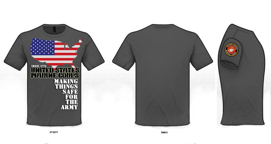 Marine Corps T-Shirt Designs   Entry 19 By Karenlimson For Design A T Shirt For The United States