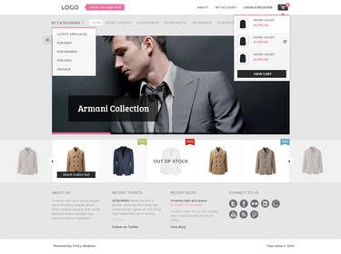 #26 for Design a Website Mockup for ecommerce site dresses and shoes by kanno007