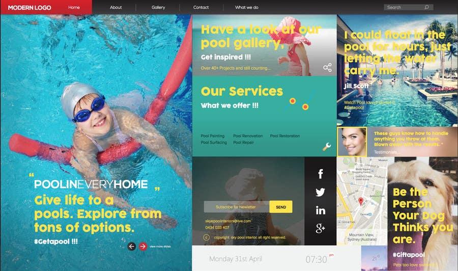 Bài tham dự cuộc thi #                                        28                                      cho                                         Design a Website Mockup/Including Logo for Pool Renovation company