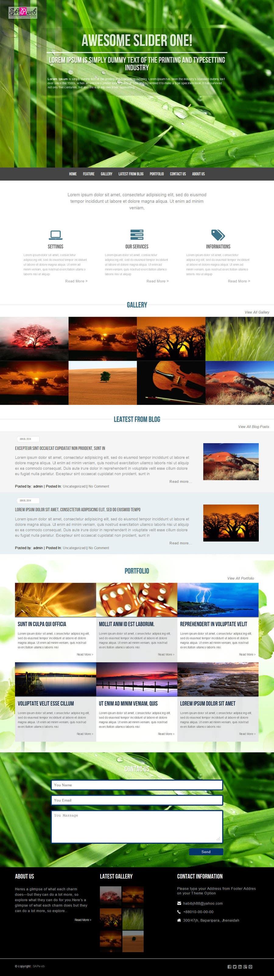 Inscrição nº                                         31                                      do Concurso para                                         Design a Wordpress Template for Travel Website
