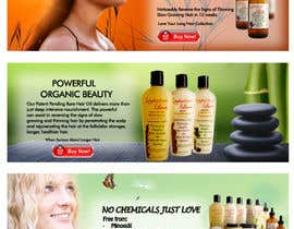nº 16 pour Banner Ad Design for 3 Organic Hair Care Website par pajpapi