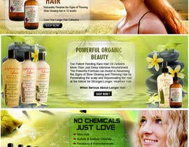 #26 for Banner Ad Design for 3 Organic Hair Care Website by sdinfoways
