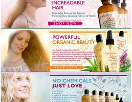 nº 21 pour Banner Ad Design for 3 Organic Hair Care Website par darkitten